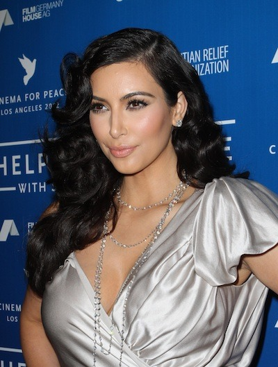 Wedding hairstyles Kim Kardashian