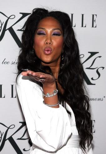 Pucker up Kimora Lee