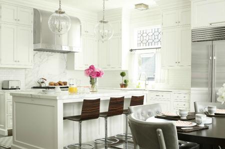 A white canvas kitchen