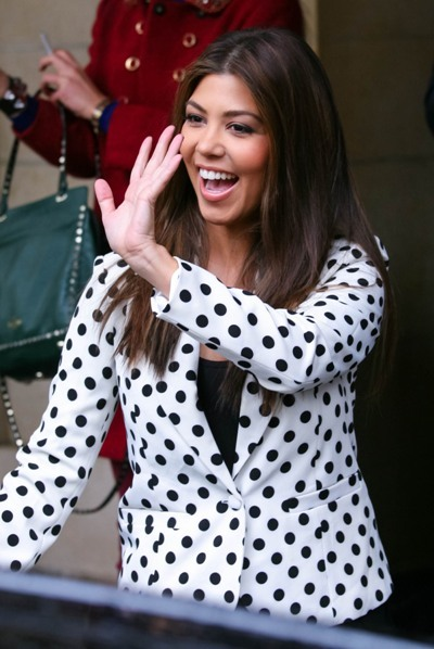 Kourtney Kardashian in polka dots