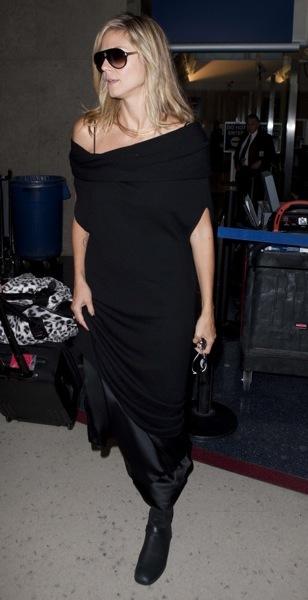 Heidi Klum in a black outfit