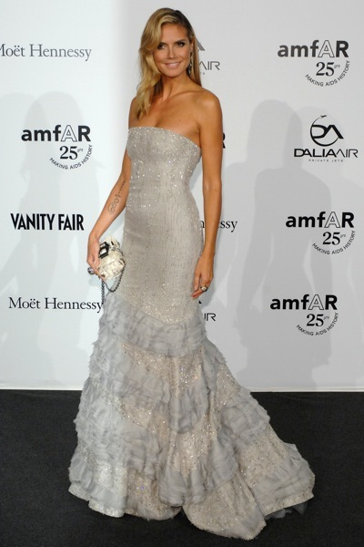 Heidi Klum in a jeweld gown