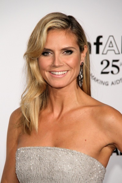 Heidi Klum in an asymmetrical hairstyle