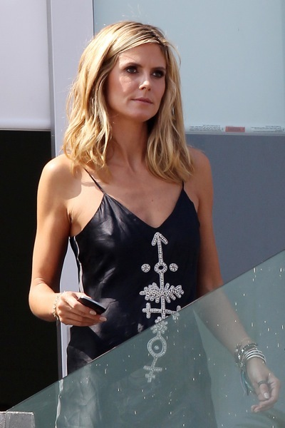 Heidi Klum in a summer dress