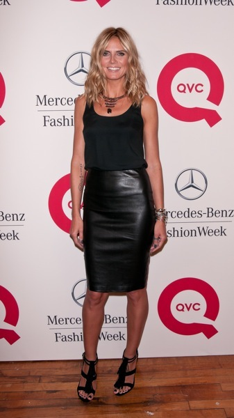 Heidi Klum in a pencil skirt