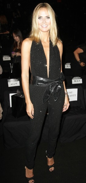 Heidi Klum in a jumpsuit
