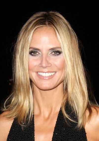Heidi Klum in dramatic makeup