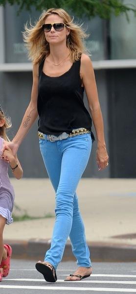 Heidi Klum in baby blue jeans