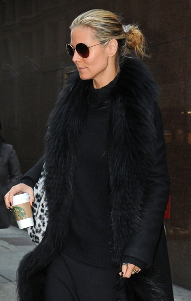 Heidi Klum in a messy bun