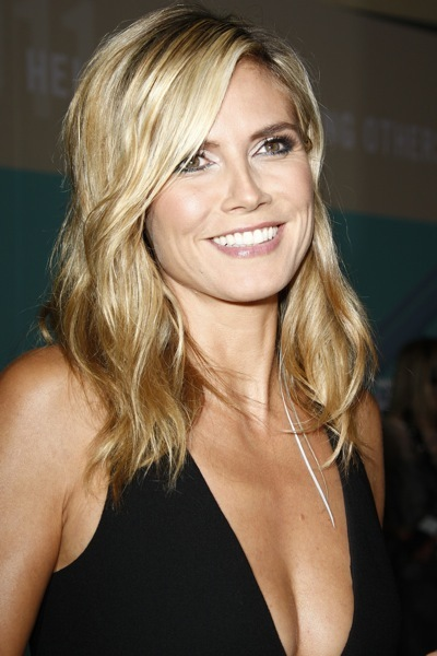 Heidi Klum with highlights