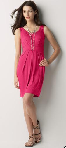 Knit Dress with Pleats