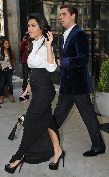 Kourtney Kardashian in a maxi skirt