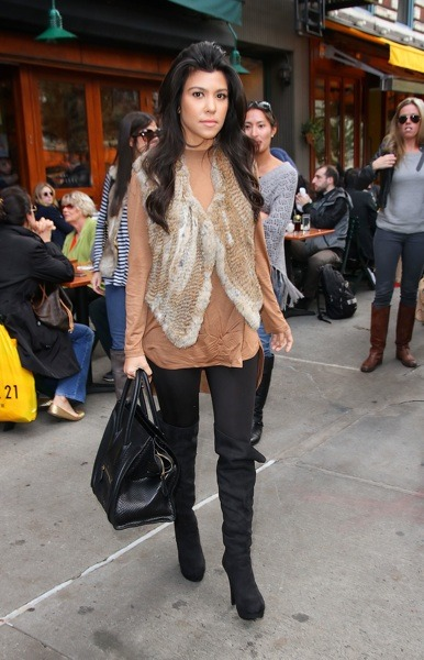 Kourtney Kardashian in fur
