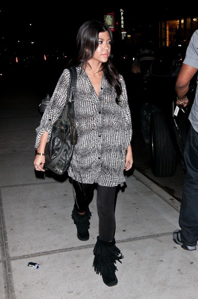Kourtney Kardashian in a tunic