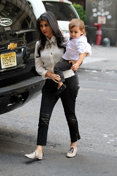 Kourtney Kardashian with Mason