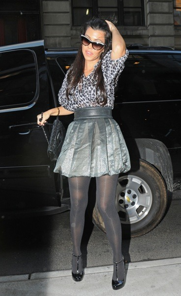 Kourtney Kardashian in a bubble hem
