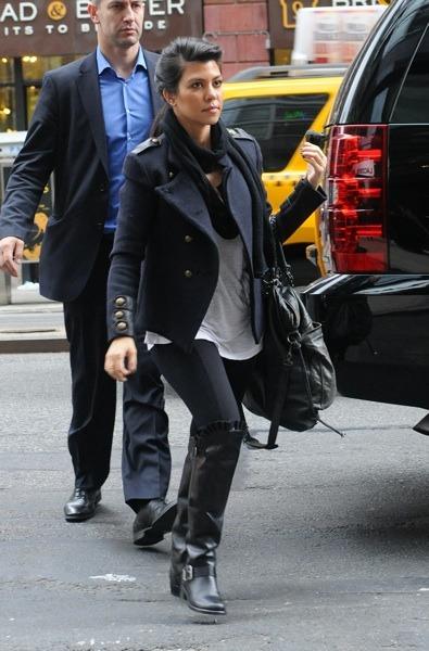 Kourtney Kardashian's layered style