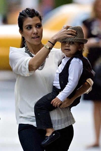 Kourtney Kardashian with her son
