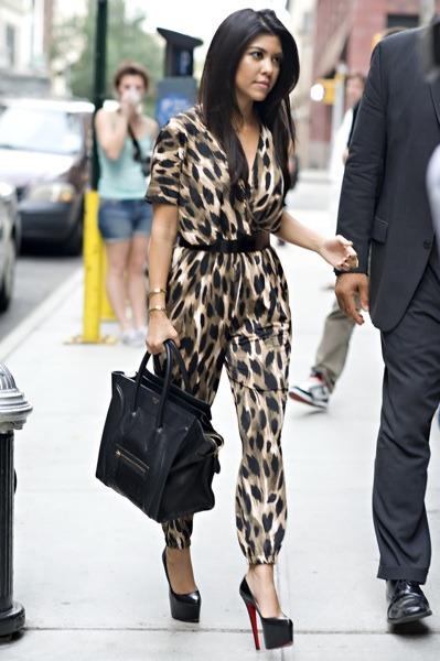 Kourtney Kardashian in jumpsuit