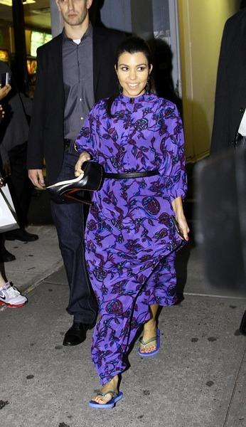 Kourtney Kardashian after a pedicure