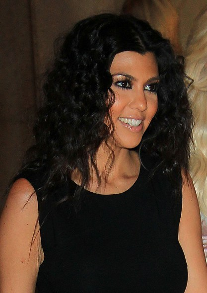 Kourtney Kardashian's Kinky Hairstyle