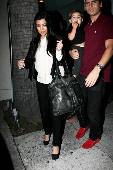 Kourtney Kardashian, Scott Disik and Mason
