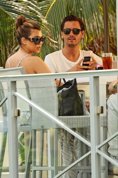 Kourtney and Scott at lunch