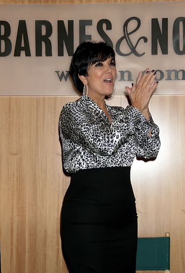 Kris Jenner at her book signing