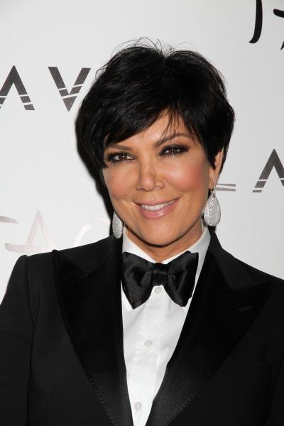 Black hair. Kris Jenner