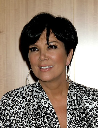 Kris Jenner's chopped up bob for oblong faces