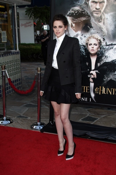 Kristen Stewart buttoned up