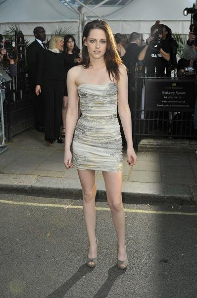 Kristen Stewart in a mini dress