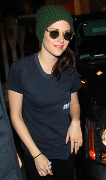 Kristen Stewart in a beanie