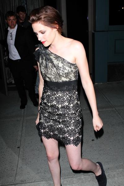 Kristen Stewart in lace