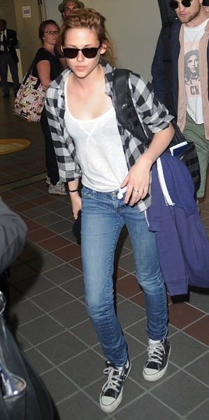 Kristen Stewart in plaid