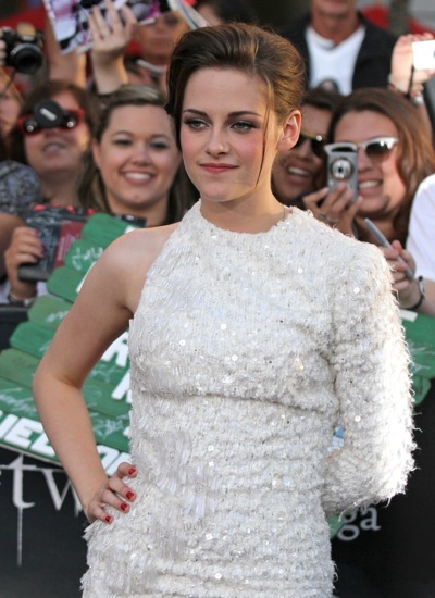 Kristen Stewart in a one sleeved dress