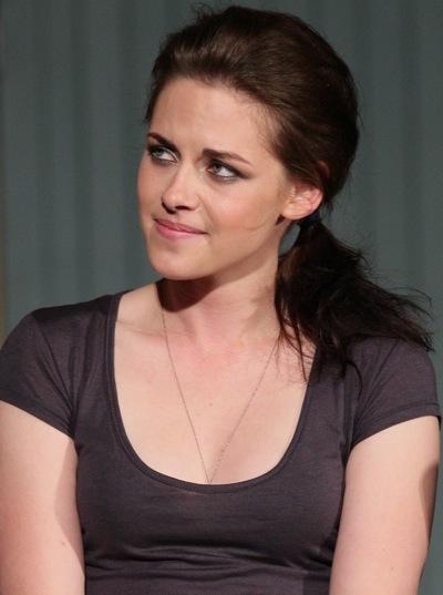Kristen Stewart with teased hair
