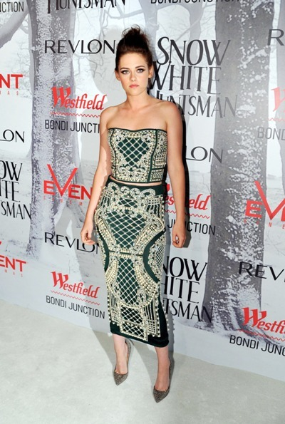Kristen Stewart beaded ensemble