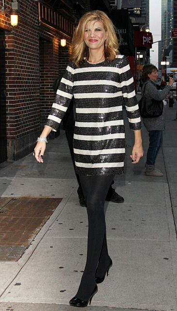 Kristen Johnson arrives at the David Letterman show