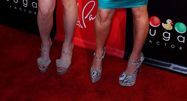 Can you guess which celeb sisters posed in these platforms?