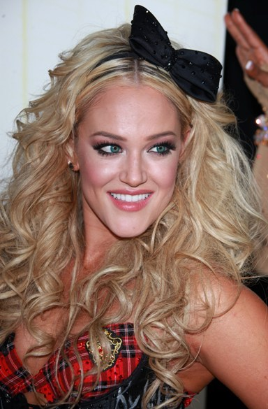 Lacey Schwimmer's headband hairstyle on DWTS