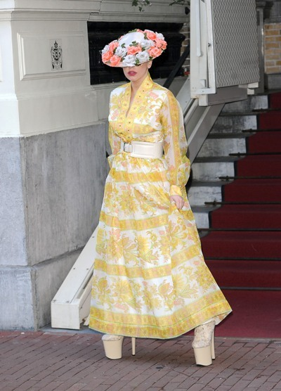 Lady Gaga floral dress