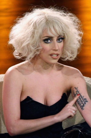 Lady Gaga: Arm tattoo