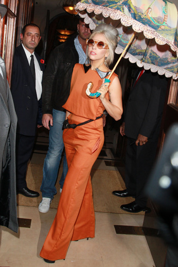 Lady Gaga looking retro in London