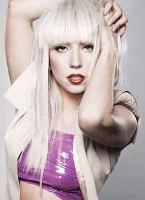 Lady Gaga lets her hair down.