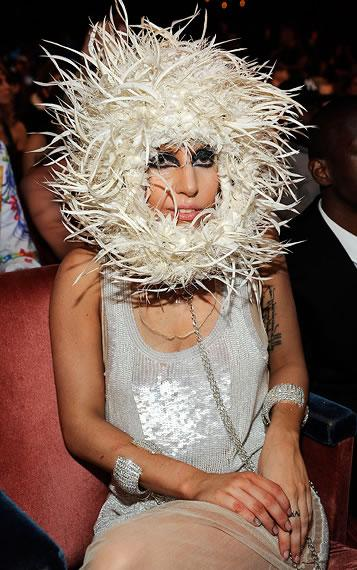 Lady Gaga sitting pretty