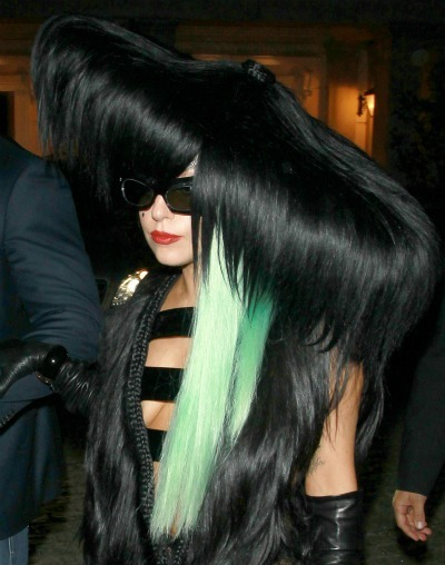Lady Gaga's multicolored tresses