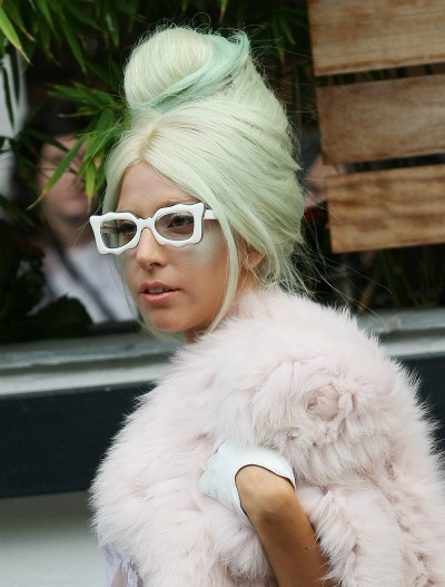 Lady Gaga's subtle green