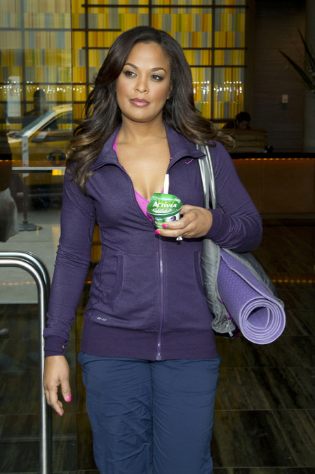 Laila Ali refuels post work-out