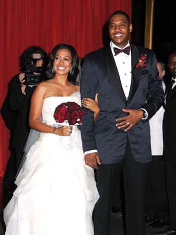LaLa Velazquez and Carmelo Anthony